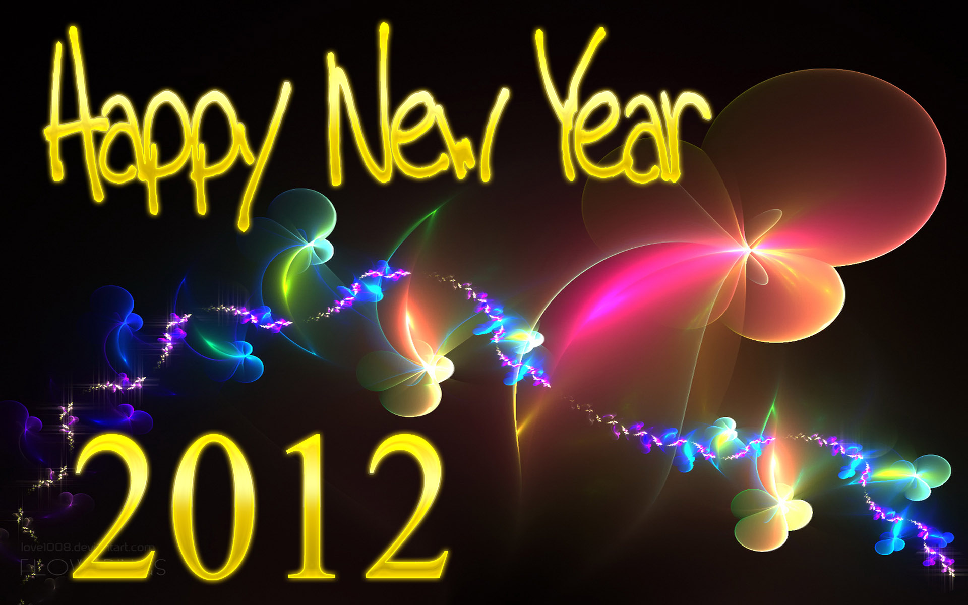 Happy New Year 2012 HD Wallpaper